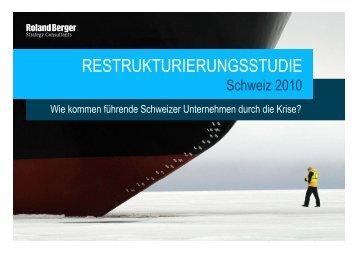 Restrukturierungsstudie - Schweiz (PDF, 1374 KB) - Roland Berger