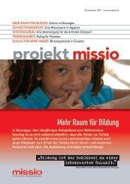 Mehr Raum für Bildung - Missio