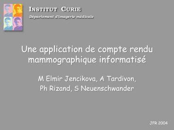 Une application de compte rendu mammographique informatisé ...