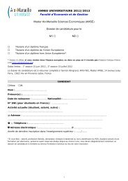 DOSSIER DE CAND ANNEE UNIVERSITAIRE 2012/2013 ... - AMSE