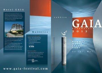 W eiteres - Gaia Festival