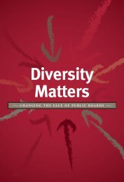 Diversity Matters: Changing the Face of Public Boards - Maytree