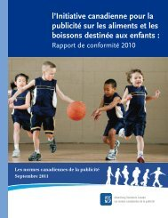 Rapport de conformité 2010 (pdf) - Advertising Standards Canada