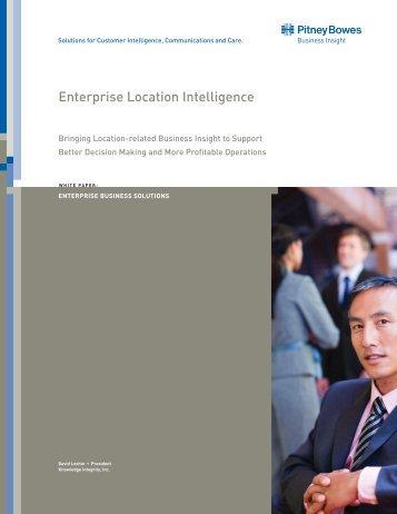 Enterprise Location Intelligence - Pitney Bowes Business Insight