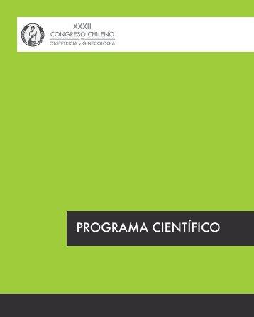 programa científico - Sociedad Chilena de Obstetricia y Ginecología