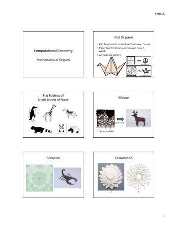 Computafonal Geometry Flat Origami Moose Scorpion Tessellafon