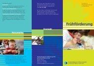 Flyer der Frühförderung - Gustav-Werner-Schule
