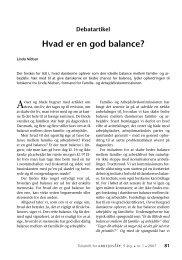 Hvad er en god balance? - Nyt om Arbejdsliv