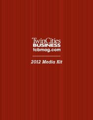 2012 Media Kit - Twin Cities Business