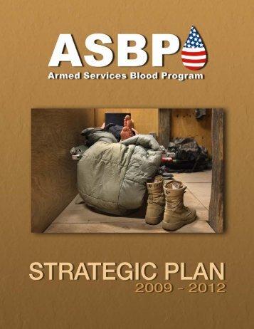 Strategic Plan - Armed Services Blood Program