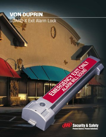 GUARD-X Exit Alarm Lock - Security Technologies