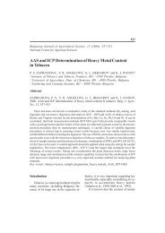 AAS and ICP Determination of Heavy Metal Content in Tobacco