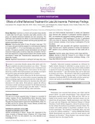 Effects of a Brief Behavioral Treatment for Late-Life Insomnia ...