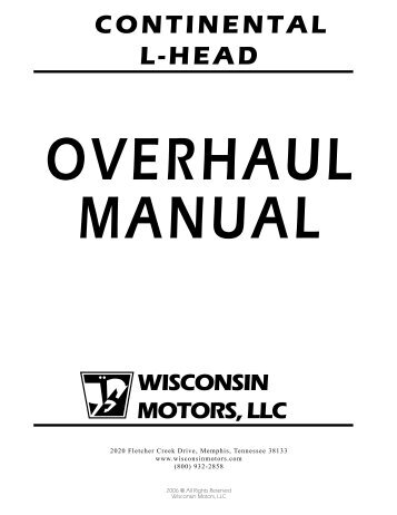 continental l head overhaul manual igor chudov rh yumpu com Operations and Maintenance Equipment Maintenance Manual