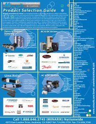 Product Selection Guide du n G i Product Selection Guide - Minarik