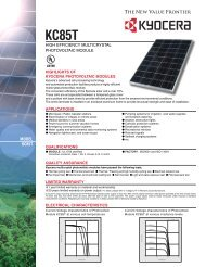 MODEL KC85T - KYOCERA Solar