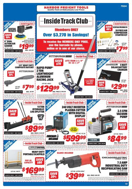 Inside Track Club - Harbor Freight Tools