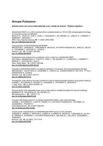 AlGaN/GaN HEMTs on a (001)-Oriented Silicon - ResearchGate