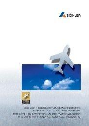 Prospekt Luftfahrt - Böhler-Uddeholm Canada