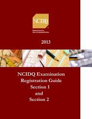 Section 1 - NCIDQ. National Council for Interior Design Qualification