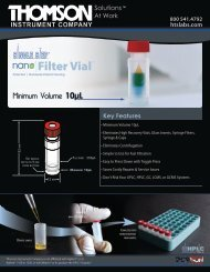 Download PDF of the nano|FV™ Flier - Thomson Instrument Company