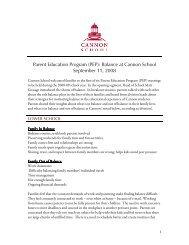Parent Breakout Sessions - Cannon School