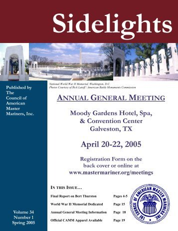 Sidelights Spring 2005 - Council of American Master Mariners