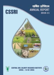 CSSRI Annual Report 2010-11 - Central Soil Salinity Research ...