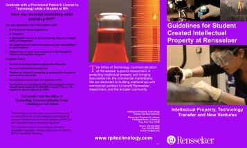 Guidelines for Students - Rensselaer Office of Technology ...