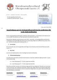 Ausschreibung zum 16. Kreisjugendfeuerwehrtag des ... - KFV-OSL
