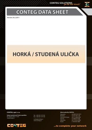 CONTEG DATA SHEET HORKÁ / STUDENÁ ULIČKA