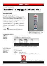 Sanitet- & Byggesilicone 577 - Dana Lim A/S