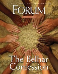 The Belhar Confession - Calvin Theological Seminary (internal ...
