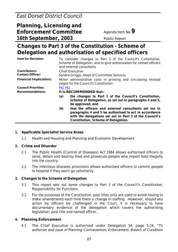 Changes to Part 3 of the Constitution