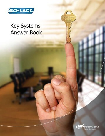 Schlage Key Systems Answer Book - Access Hardware Supply
