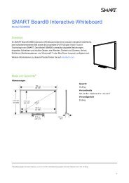 SMART Board M600 interactive whiteboard specifications