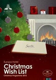 Europa Hotel Christmas Residential Brochure - Hastings Hotels