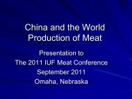China and the world production of meat - IUF
