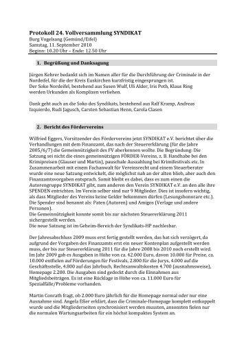 Protokoll Vollversammlung1 - Das Syndikat