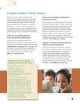 College Foundation of North Carolina provee información y ... - Page 3