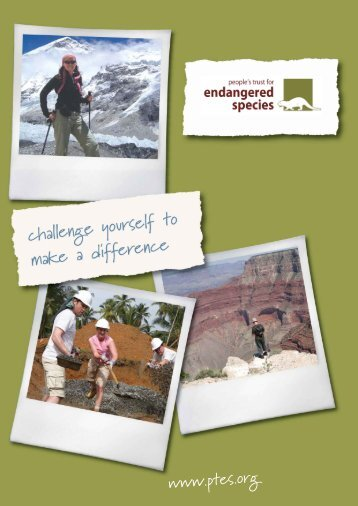 responsible tourism - People's Trust for Endangered Species