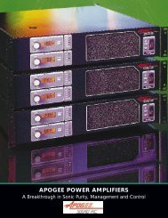 Apogee DA Amps Brochure - Apogee Sound