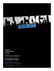 A report on the music industry in chicago - Cultural Policy Center