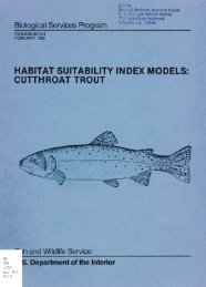 habitat suitability index models: cutthroat trout - USGS National ...