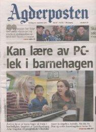 Kan lære av PC lek i barnehagen