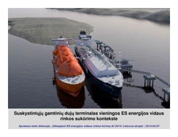 Suskystintų gamtinių dujų terminalas vieningos ES energijos vidaus ...
