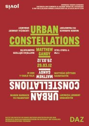 URBAN CONSTELLATIONS URBAN ... - Jovis Verlag