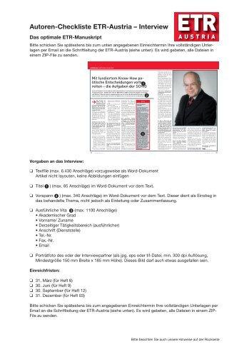 Interview - Institut für Eisenbahnwesen, Verkehrswirtschaft und ...