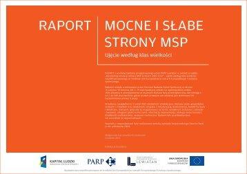 Raport - Mocne i słabe strony MSP - ujęcie wg klas ... - Lewiatan