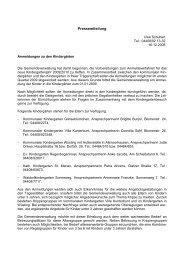 Anmeldung zu den Kindergaerten2009 - KDO-KIM